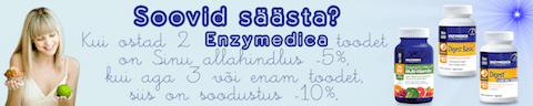 Enzymedica soodushind - osta rohkem ja säästa Enzymedica seedeensüümidelt